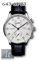 IWC Portuguese Chrono-Automatic (SS / White / Blue Leather) IW3714-17