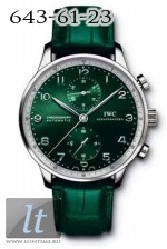 IWC Portuguese Chrono-Automatic Boris Becker Edition (SS / Green / Leather) IW3714-30