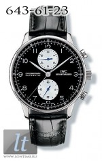 IWC Portuguese Chrono-Automatic (SS / BnW / Leather) IW3714-04