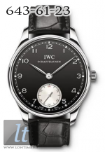 IWC 2010 Portuguese Hand-Wound Black Dial IW545404