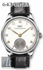 IWC 2010 Portuguese Hand-Wound Silver-plated Dial IW545405