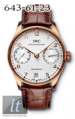 IWC Portuguese Automatic (RG / White / Leather) IW5001-01