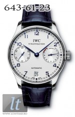 IWC Portuguese Automatic (SS / White / Leather) IW5001-07