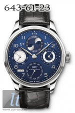 IWC Portuguese Perpetual Calendar WG with Midnight Blue Dial IW502121