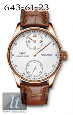IWC Portuguese Regulateur (RG / White / Leather) IW5444-02