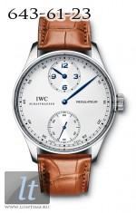 IWC Portuguese Regulateur (SS / White / Leather) IW5444-01