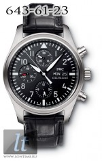 IWC Pilot`s Chrono-Automatic (Steel / Black / Leather)