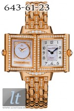 Jaeger LeCoultre  Reverso Duetto Joaillerie (RG / MOP / Diamond Bezel and Brace Q2662213