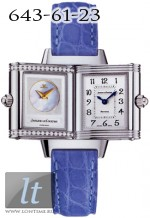 Jaeger LeCoultre  Reverso Duetto (Steel / Silver - MOP / Diamonds / Leather) Q2668420