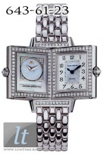 Jaeger LeCoultre  Reverso Duetto (WG / Silver - MOP / Diamond Bezel / WG) Q2663101
