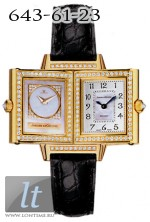 Jaeger LeCoultre  Reverso Duetto (YG / Silver - MOP / Diamond Bezel / Leather) Q2661401