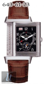 Jaeger LeCoultre  Reverso Date (WG / Black / Leather) Q274347A