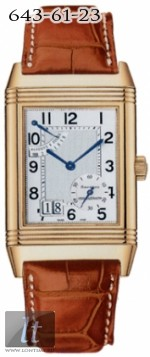 Jaeger LeCoultre  Reverso Grande Date (YG / SIlver / Leather) Q3001420