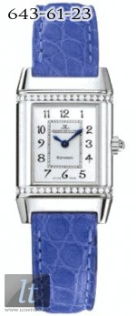 Jaeger LeCoultre  Reverso Florale (Stee / Silver / Diamonds / Leather) Q2658420