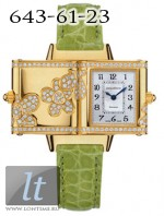 Jaeger LeCoultre  Reverso Florale (YG / Silver / Diamond Patterns / Leather) Q2651401