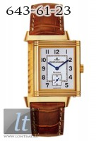 Jaeger LeCoultre  Reverso Grande Taille (YG / Silver / Leather) Q2701420