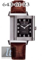 Jaeger LeCoultre  Reverso Grande Taille Quartz (Steel / Black / Leather) Q2798470