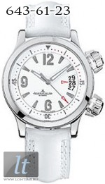 Jaeger LeCoultre  Master Compressor Automatic (SS / White / Leather) Q1728420