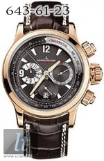 Jaeger LeCoultre Master Compressor Chronograph (RG / Black / Leather) Q1752440
