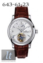 Jaeger LeCoultre  Master Tourbillon (SS / Silver / Leather)