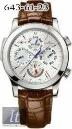 Jaeger LeCoultre  Master Grande Reveil (SS / Silver / Leather) Q163842A