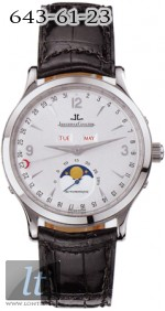 Jaeger LeCoultre  Master Moon (Steel / Silver / Leather) Q143842A