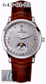 Jaeger LeCoultre  Master Moon (WG / Rhodium / Leather) Q143344A