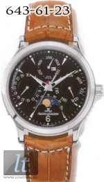 Jaeger LeCoultre  Master Perpetual (SS / Black / Leather) Q149847A