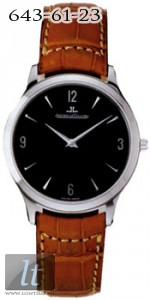 Jaeger LeCoultre  Master Ultra Thin (Steel / Black / Leather) Q1458470