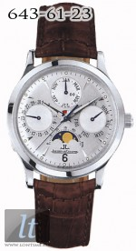 Jaeger LeCoultre  Master Perpetual (WG / Silver / Leather) Q149344A