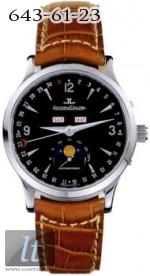 Jaeger LeCoultre  Master Moon (Steel / Black / Leather) Q143847A