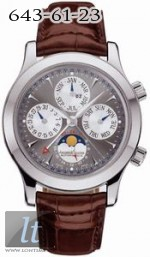 Jaeger LeCoultre  Master Grande Memovox (WG / Grey / Leather) Q146344A