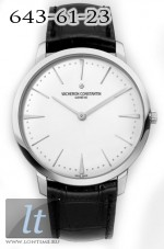 Vacheron Constantin Patrimony Grand Taille (18kt WG/ Silver / Leather) 81180/000G-9117