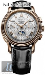 Zenith ChronoMaster GT Moonphase (RG/Silver Guilloche/Leather) 18.1240.4001/01.C495.GB