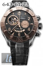 Zenith Defy Classic Open (RG-SS / Black / Leather) 86.0526.4021/21.C648