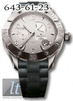 Zenith Defy Classic Power Reserve (SS / Silver / Rubber) 03.0516.685/01.R642