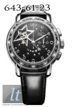 Zenith Star Open Glam Rock (SS-Diamonds / Black / Leather) 16.1231.4021/21.C626