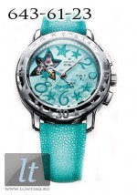 Zenith Star Sea Open (SS / Turquoise MOP / Leather) 03.1233.4021/81.C629