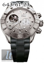 Zenith Defy Classic Open (SS / Silver / Rubber) 03.0526.4021/01.R642