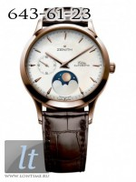 Zenith Class Lady Moonphase in Rose Gold with Brown Leather 18.1225.692/80.c665