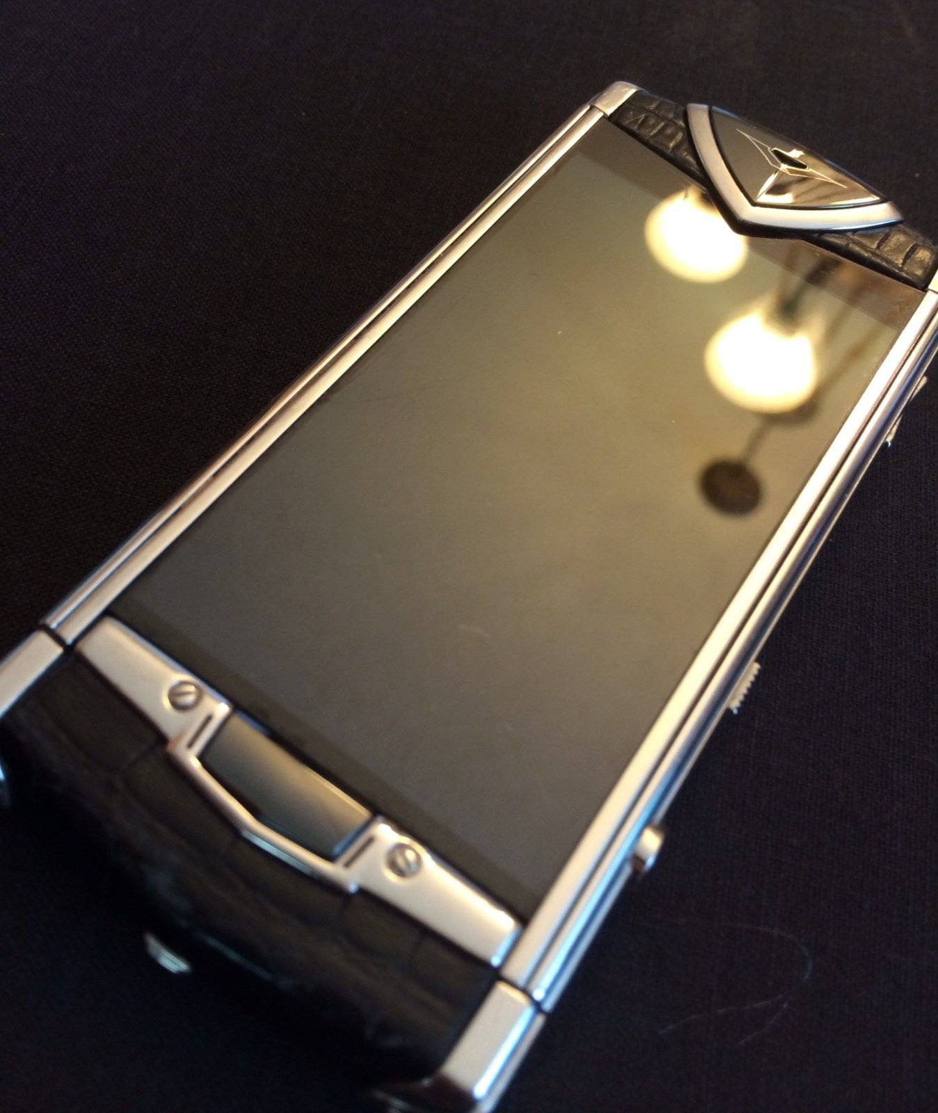 Vertu Constellation Touch screen Black Alligator Leather